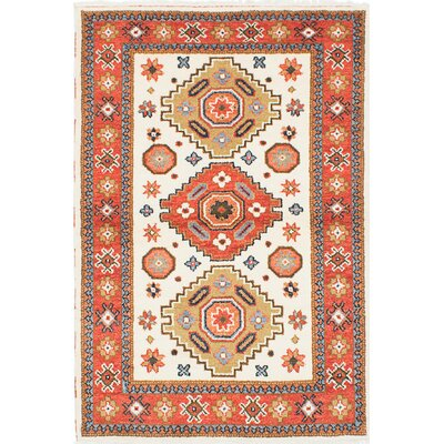 Royal Kazak Hand-Knotted Beige/Orange Area Rug