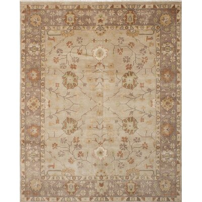 Royal Ushak Hand-Knotted Beige/Brown Area Rug