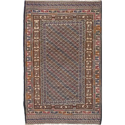 Shiravan Sumak Handmade Brown/Blue/Beige Area Rug