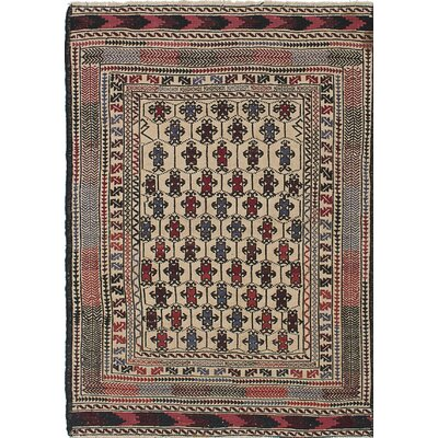 Shiravan Sumak Handmade Beige/Brown/Red Area Rug