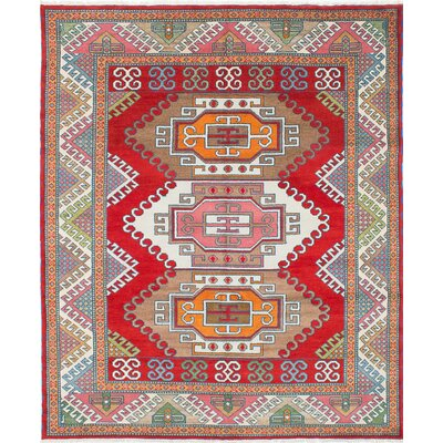 Royal Kazak Hand-Knotted Beige/Red Area Rug
