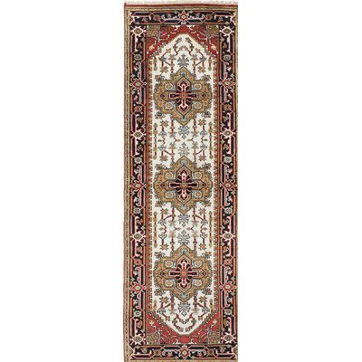 One-of-a-Kind Serapi Heritage Hand-Knotted Beige/Red Area Rug