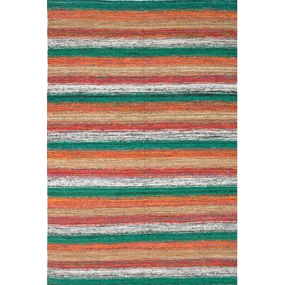 Sari Handmade Green/Beige/Orange Area Rug