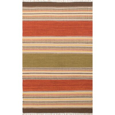 Barnett Handmade Orange/Beige Area Rug