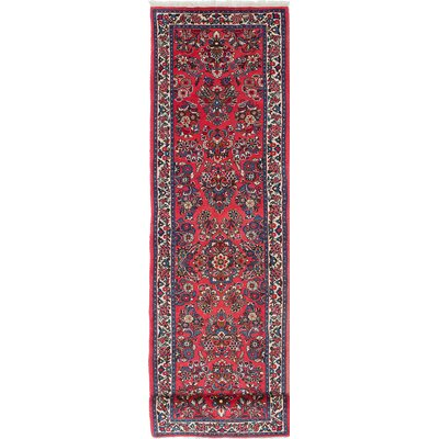 Sarough Hand-Knotted Red/Blue Area Rug
