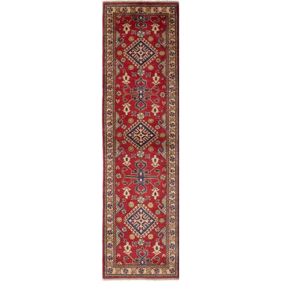 Gazni Hand-Knotted Red/Beige/Blue Area Rug