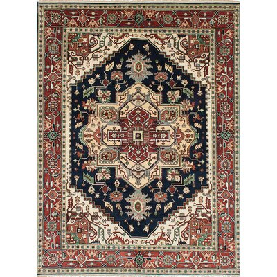 Serapi Heritage Hand-Knotted Blue/Beige/Red Area Rug