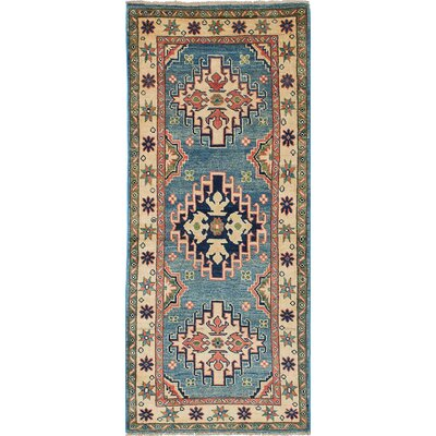 One-of-a-Kind Gazni Hand-Knotted Blue/Beige Area Rug