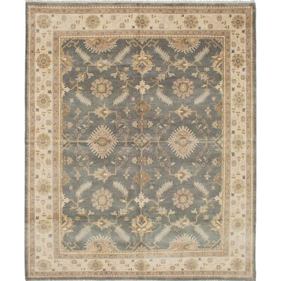 One-of-a-Kind Li Hand-Knotted Gray/Beige Area Rug