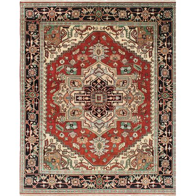 Serapi Heritage Hand-Knotted Beige/Red Area Rug