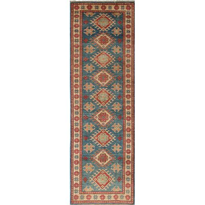 Gazni Hand-Knotted Blue/Red Area Rug