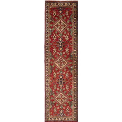 One-of-a-Kind Gazni Hand-Knotted Beige/Red Area Rug