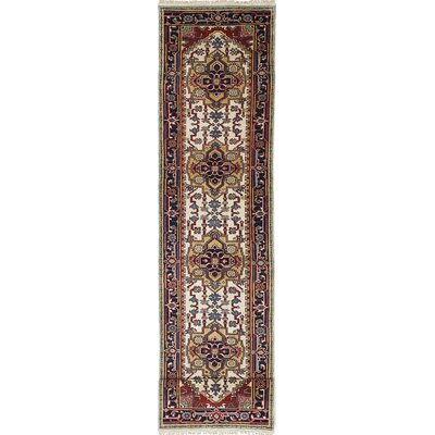 Serapi Heritage Hand-Knotted Blue/Cream Area Rug
