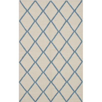 Diamond Bamboo Handmade Cream Area Rug