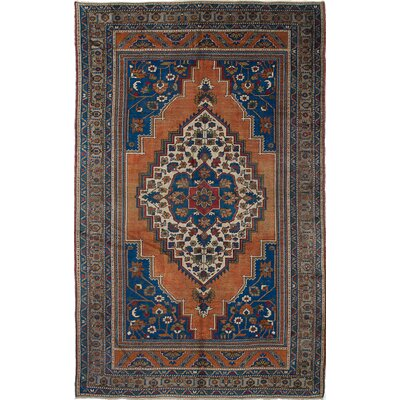 One-of-a-Kind Braintree Hand-Knotted Blue/Brown Area Rug