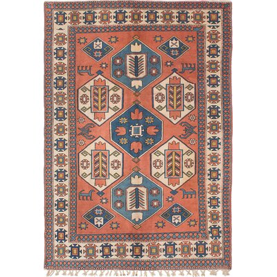 Ushak Hand-Knotted Copper Area Rug