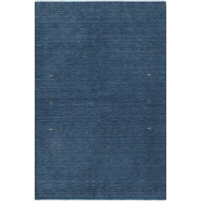 Luribaft Gabbeh Riz Hand-Knotted Blue Area Rug