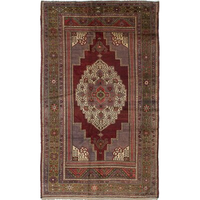 One-of-a-Kind Braintree Hand-Knotted Red Area Rug