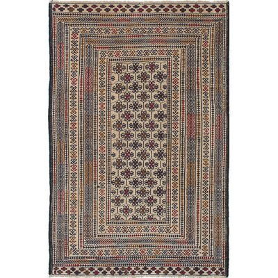 Shiravan Hand-Woven Blue/Cream Area Rug