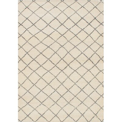 One-of-a-Kind Bridgewater Hand-Knotted Cream Area Rug