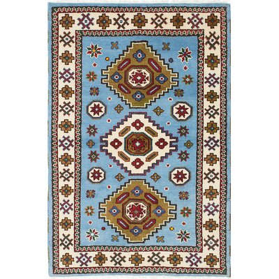 One-of-a-Kind Berkshire Hand-Knotted Blue Area Rug