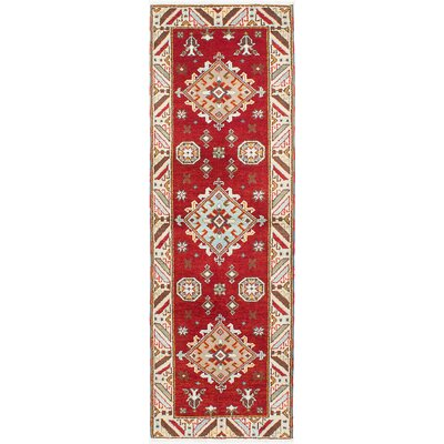 One-of-a-Kind Berkshire Hand-Knotted Cream/Red Area Rug