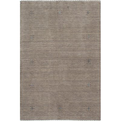 One-of-a-Kind Campos Hand-Knotted Gray Area Rug