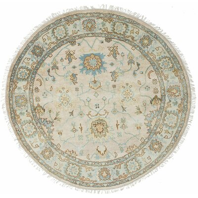 Royal Ushak Hand-Knotted Blue/Cream Area Rug