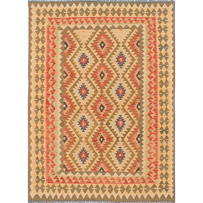 One-of-a-Kind Braintree Handmade Wool Gold Area Rug
