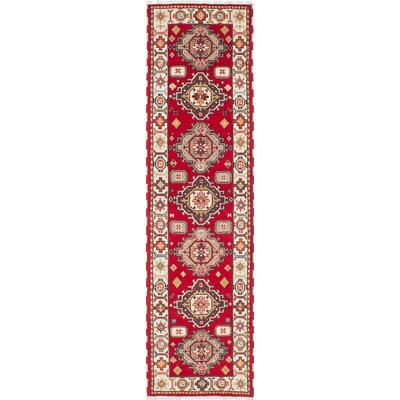 Berkshire Hand-Knotted Cream/Red Area Rug