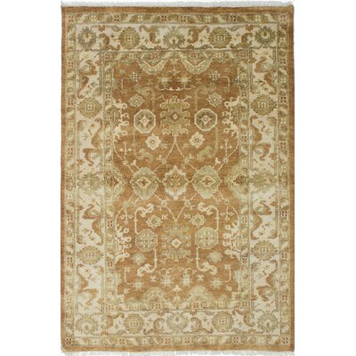 Royal Ushak Hand-Knotted Brown Area Rug