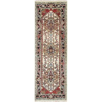 Serapi Heritage Hand-Knotted Black/Cream Area Rug