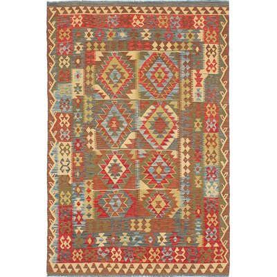 One-of-a-Kind Olmsted Handmade Wool Brown/Red Area Rug
