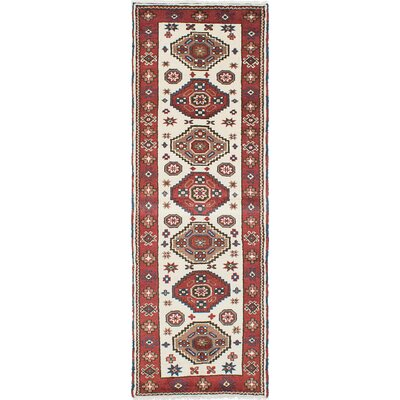 Royal Kazak Hand-Knotted Copper/Cream Area Rug