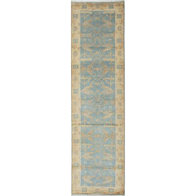 Royal Ushak Hand-Knotted Blue Area Rug Rug Size: Runner 28 x 10