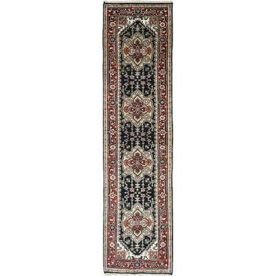 Serapi Heritage Hand-Knotted Blue/Coral Area Rug