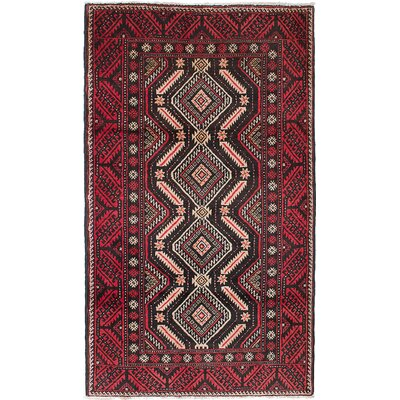 Finest Baluch Hand-Knotted Brown/Red Area Rug