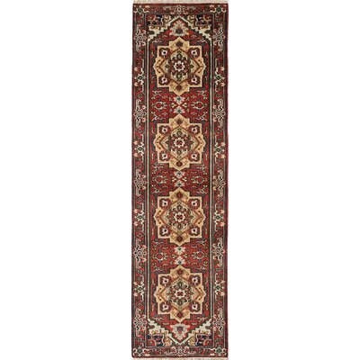 One-of-a-Kind Baldry Hand-Knotted Red Area Rug