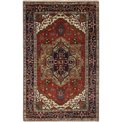 One-of-a-Kind Serapi Heritage Hand-Knotted Blue/Red Area Rug
