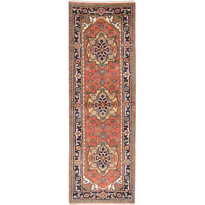 Serapi Heritage Hand-Knotted Blue/Copper Area Rug