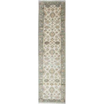 Royal Ushak Hand-Knotted Cream Area Rug