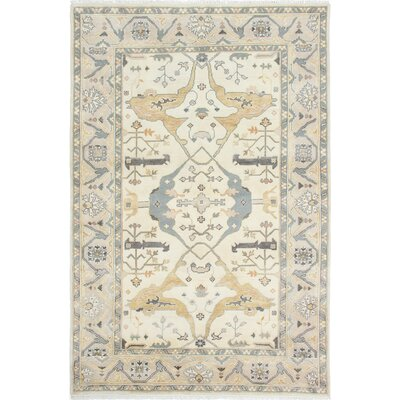 Royal Ushak Hand-Knotted Cream Area Rug