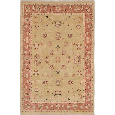 One-of-a-Kind Chobi Twisted Hand-Woven Light Khaki Area Rug