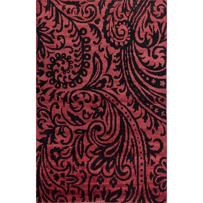 One-of-a-Kind Ekbote Hand-Woven Dark Coral Area Rug