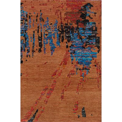Sari Hand-Woven Dark Orange Area Rug