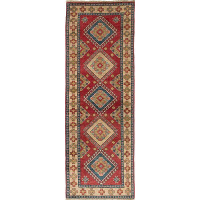 One-of-a-Kind Bernard Hand-Woven Rectangle Ivory/Red Area Rug