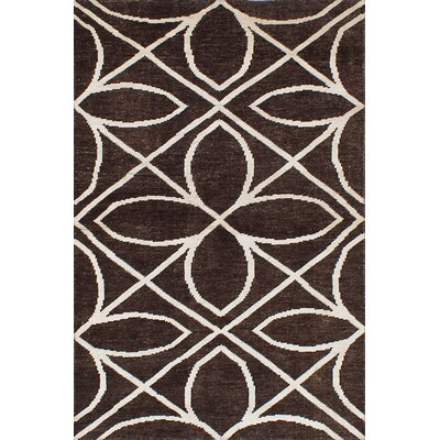 One-of-a-Kind Eduardo Hand-Woven Dark Brown Area Rug