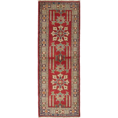 One-of-a-Kind Bernard Wool Hand-Woven Cream/Dark Copper Area Rug