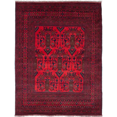 One-of-a-Kind Rosales Hand-Woven Light Red Area Rug