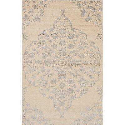Poplin Hand-Woven Cream Area Rug Rug Size: 5 x 711